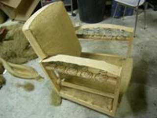 Demontage fauteuil club